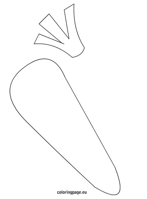 Carrot Template carrot template printables coloring page