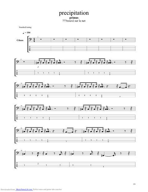 groundhog day bass tab precipitation guitar pro tab by primus musicnoteslib