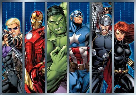 marvel avengers assemble strips wallpaper mural geek