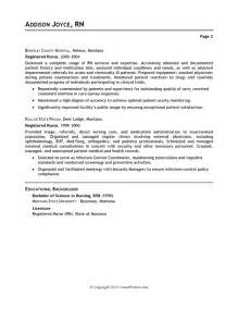 Registered Resume Exle by Acute Care Nursing Resume Sales Nursing Lewesmr