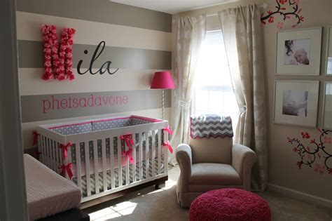 cute nursery ideas i heart pears grey and pops of pink nursery