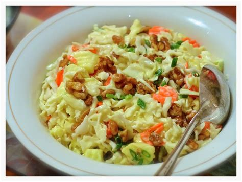 indonesian medan food membuat coleslaw coleslaw with a