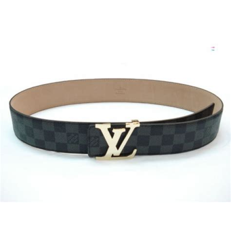 Jual Belt Louis Vuitton Lv Damier Graphite Black Mirror Quality 9 black louis vuitton graphite damier belt with black