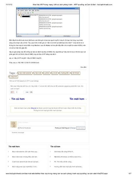 cho mng qu v n vi website ca nguyn v ngc khai th 225 c arp trong mạng lan v 224 c 225 ch ph 242 ng tr 225 nh arp