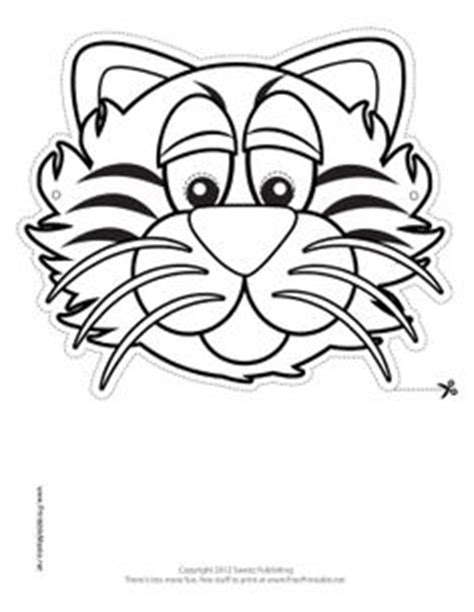 tiger mask coloring page 1000 images about jungle crafts on pinterest monkey