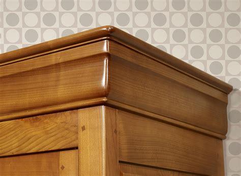 Petite armoire 2 portes 2 tiroirs Inès en merisier massif
