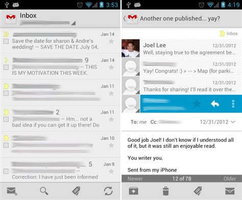 android email app 5 excellent email apps for android compared