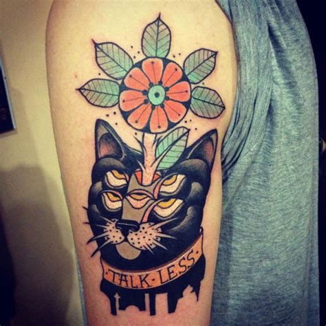 freaky tattoos aivaras cat talk less tattoomagz