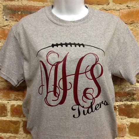 design a monogram shirt this is our unique monogrammed football t shirt available