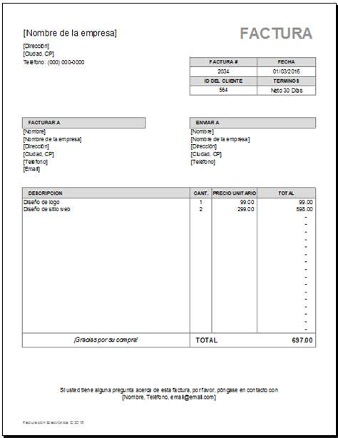descargar plantillas facturas servicios profesionales plantilla de facturaci 243 n excel sistema de cotizaciones