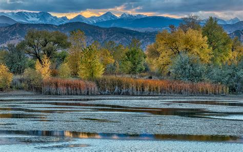 sunset at sawhill ponds boulder colorado high quality indian peaks wilderness the photography of daniel joder
