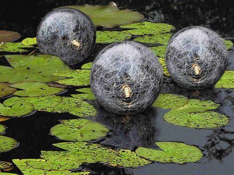solarkugeln garten schwimmende solarkugeln 3er set schwimmkugeln