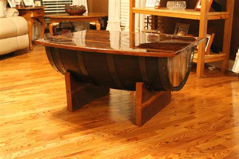whiskey barrel coffee table reclaimed whiskey barrel coffee table the diy