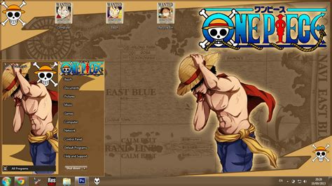 download theme windows 10 one piece anime skin theme win 7 monkey d luffy new world one