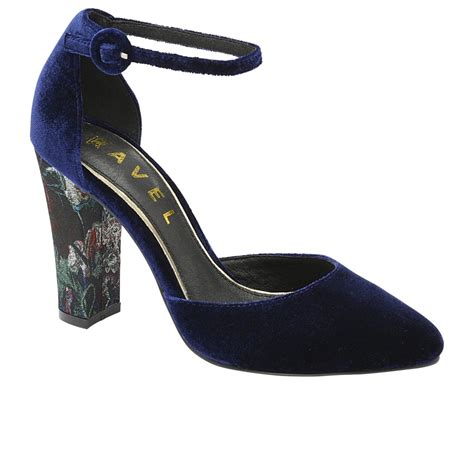 ravel shoes ravel milton heeled shoes midnight blue velvet