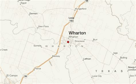 wharton texas map wharton location guide