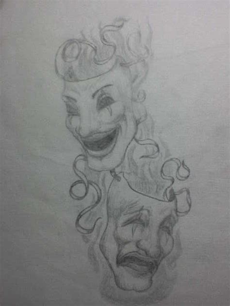 theatre mask sketch for tommy by okietatz on deviantart