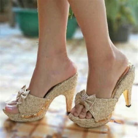 High Heels Bahan Brukat jual sandal high heels wanita brukat sdh37 cafana store
