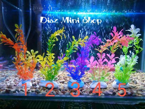 jual tanaman sintetik plastik hiasan aquarium