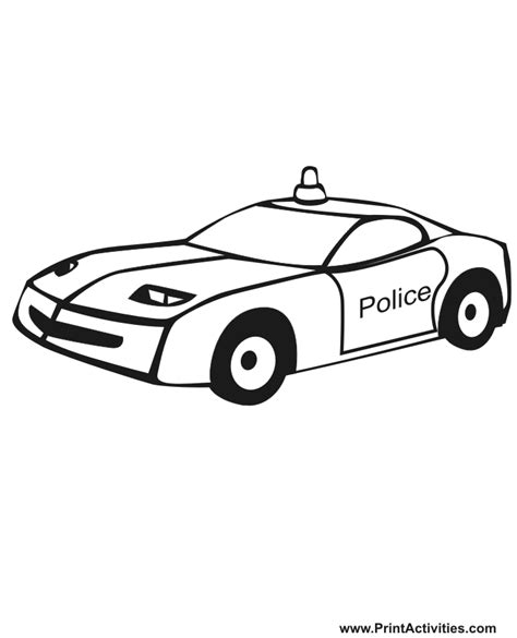 coloring pages cop cars car coloring page