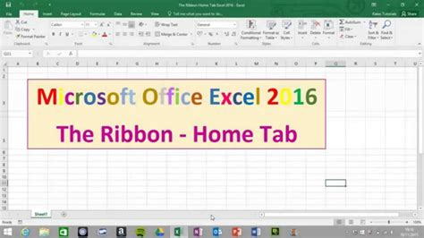 home tab on the ribbon in microsoft excel 2016
