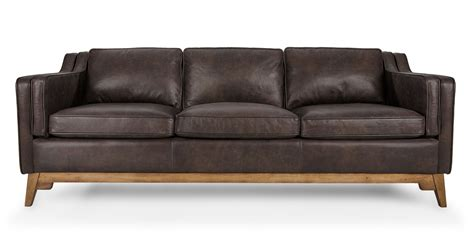 brown sofa worthington oxford brown sofa sofas article modern mid century and scandinavian furniture