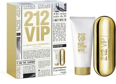 212 Vip Gift Set carolina herrera 212 vip gift set of 50ml edp 100ml lotion price review and buy in uae