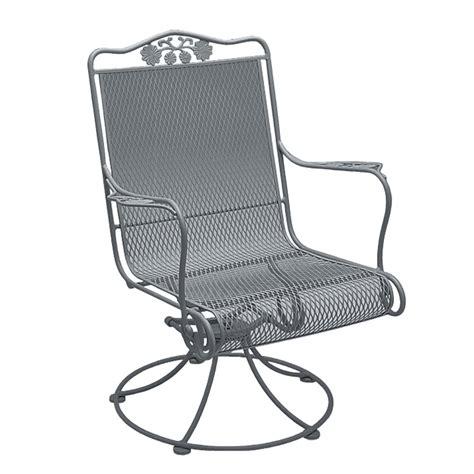 Wrought Iron Swivel Patio Chairs Woodard Briarwood Wrought Iron High Back Swivel Rocker 400072