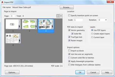 home design software import pdf pdf import in autocad 2017 kanisco
