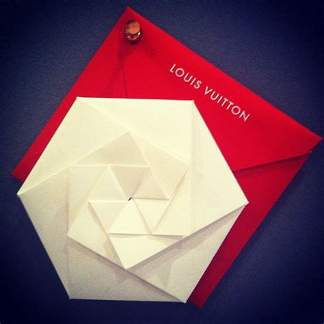 Origami Invitations - louis vuitton yayoi kusama invitation on behance