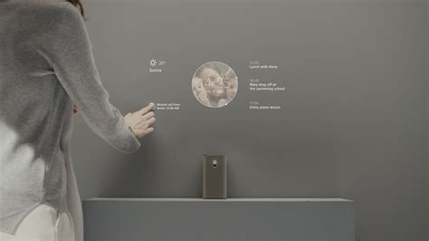 sony xperia projector  touch voice gestures revealed