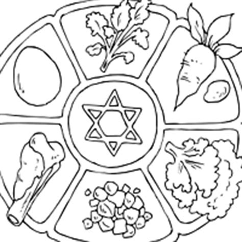 passover seder plate coloring page sketch coloring page