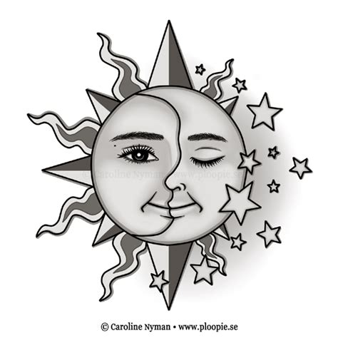 sunmoonstars tattoo by ploopie on deviantart