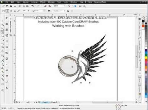 blend tool in coreldraw x5 how to use coreldraw pt 1 secrets of coreldraw brush