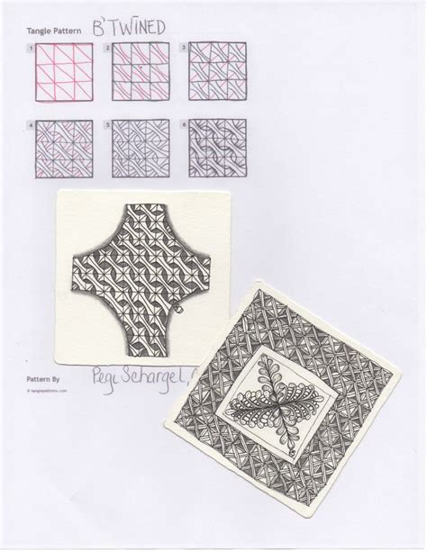 zentangle pattern blog b twined by pegi schargel czt zentangle art tangle