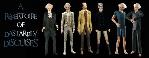 Lemony 4 Pcs series of unfortunate events count olaf