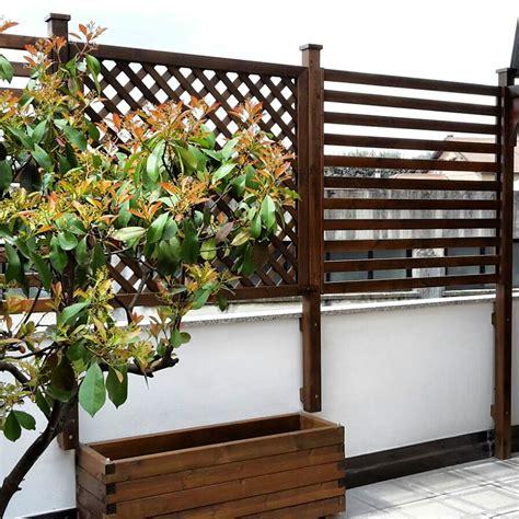 grigliati in legno per terrazzi pannelli grigliati per terrazzi e giardini cereda