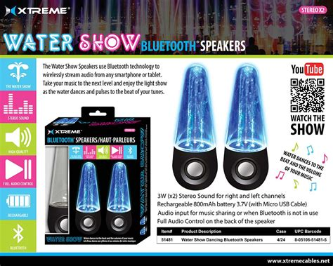 bluetooth light up water speakers xtreme bluetooth water show dancing speakers 3 multi