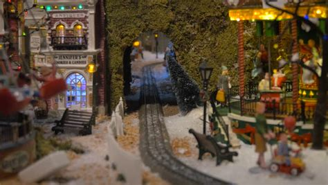 minuiture christmas towns aventura december 21 stock of the miniature in motion at aventura mall