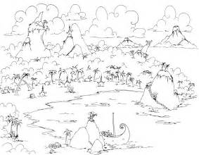 coloring page of an island coloring home
