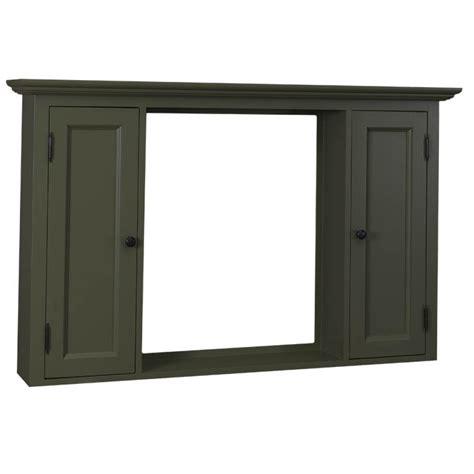spiegelschrank grau massivholz spiegel im landhausstil