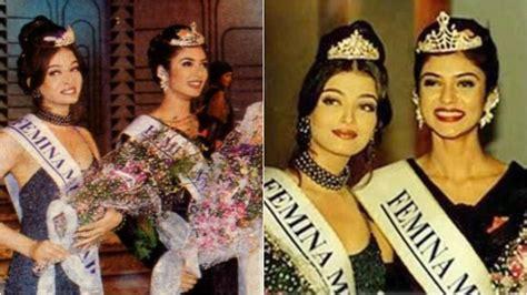 sushmita sen gown miss india how aishwarya rai lost the miss india 1994 crown to