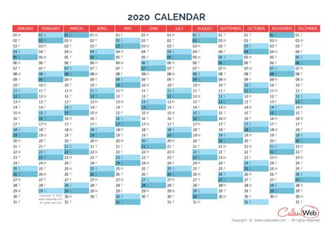yearly calendar year  yearly horizontal planning calenwebcom
