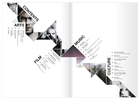 portfolio content layout kaleid arts culture magazine on behance
