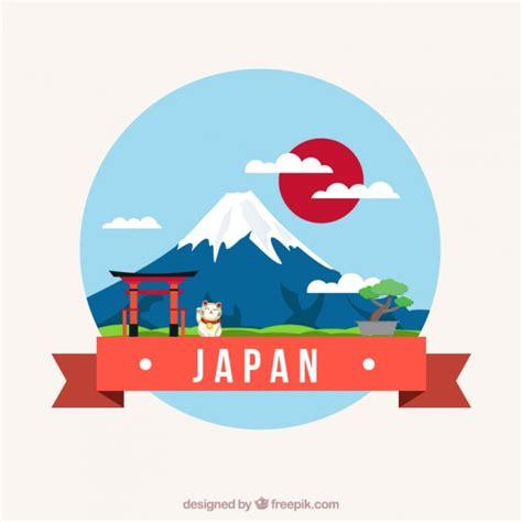 free design japan japanese landscape vector premium download
