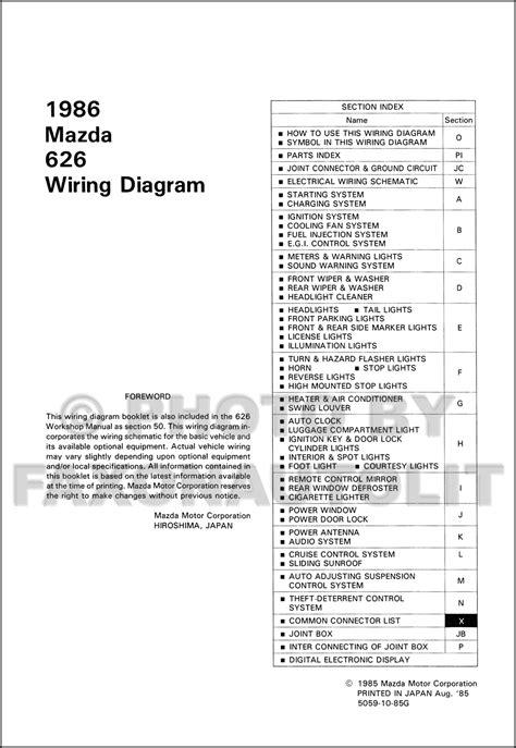 1996 mazda 626 lights wiring diagram wiring diagram manual