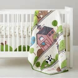 Farm Animals Crib Bedding For Boy Vintage Farm Nursery The Land Of Nod Baby Bedding Farm Animal Crib Bedding In Crib