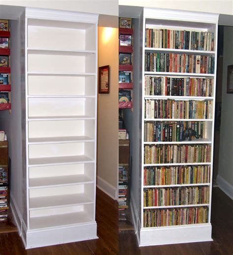 hang books built in bookcase