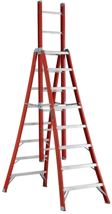 Kitchen And Bathroom Faucets louisville hd fiberglass trestle ladder fx1100 series