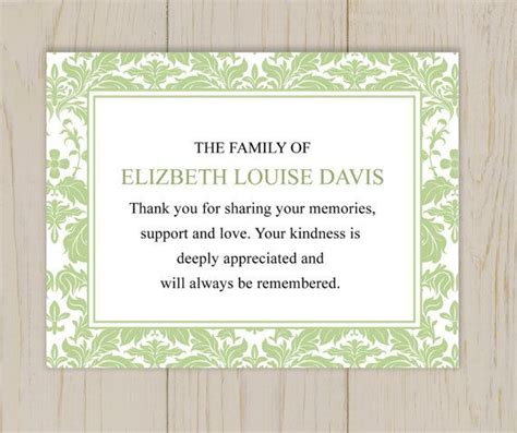 funeral note cards template 16 best funeral thank you card images on